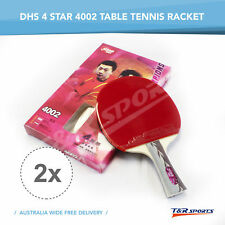 2x DHS 4002 LONG HANDLE TABLE TENNIS/PING PONG RACKET/BAT/PADDLE FREE DELIVERY