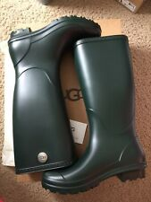 Ugg Australia Women's Shelby Matte Rain Boots Rubber Olive Green 1098249 Size 6