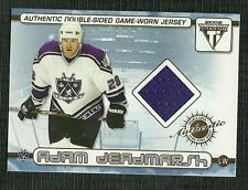 BRYAN SMOLINSKI ADAM DEADMARSH 02 PACIFIC TITANIUM DUAL GAME WORN JERSEY KINGS