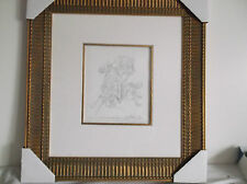 Guillaume Azoulay Horse Pen Ink Drawing Esquisse Captured Cavalry Horse Signed