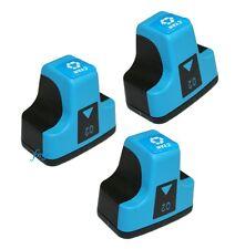 3 CYAN Set Pack for HP Photosmart Printers C7280 C8180 3110 3210 3210v D7460