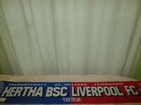 "Hertha BSC Berlin/Liverpool FC Schal ""FREUNDSCHAFT 22.JULI 2008 FRIENDSHIP"" TOP"