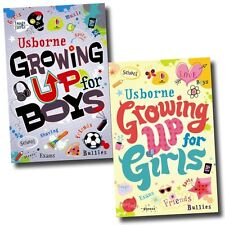 Usborne Growing up for Girls and Boys 2 Books Set Collection Teens, Young Adults