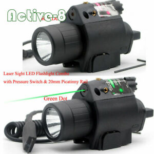 Red/Green Dot Laser & LED Flashlight Torch Combo Sight Scope Rifle fit Picatinny