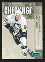 2005/06 SIDNEY CROSBY UPPER DECK PARKHURST HOCKEY TEAM CHECKLIST ROOKIE CARD RC