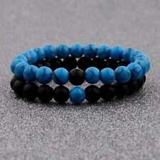 Couple bracelets Distance Stretch Pearl Onyx