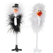Bride and Groom Ostrich Feather Wedding Reception Guest Book Signing Pen Set