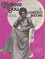 I Believe You - Dorothy Moore - 1977 Sheet Music