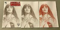 3x VENGEANCE of VAMPIRELLA 1; BEN OLIVER RATIO INCENTIVE VARIANTS Dynamite