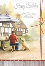Happy Birthday Card, on, dog, pub, Beer THEME Top Quality sentimental sataniques (f1)