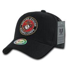 Black USMC United States Marine Military Hat Ball Cap Officially Licensed