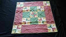 Corner Stars Machine and Hand-Stitched Finished Quilt~3302