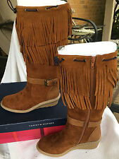 NIB Tommy Hilfiger Kid Heidi Fringe Wedge Boho Boot Little Girl Shoes Size 3 M