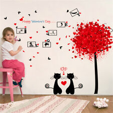 Couples Cat Photos Room Home Decor Removable Wall Sticker Decal Decoration