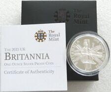 2011 Royal Mint British Britannia £2 Two Pound Silver Proof 1oz Coin Box Coa