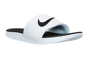 819352-100 Kids youth Nike Kawa Slide Sandals (GS/PS) White/Black