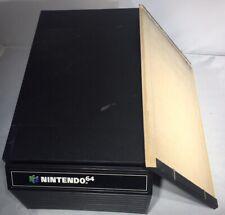 VTG Nintendo 64 12 Game Storage Case Cartridge N64 Cabinet *For Parts Or Repair*