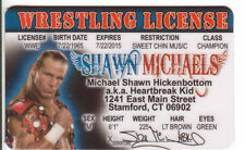 Shawn Michaels wrestling novelty collectors card Drivers License Shaun wwf wcw