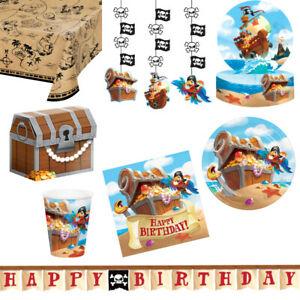 Pirate Themed Party Tablewear and Decorations- For Kids