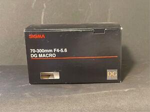 Canon mount Sigma 70-300 DG macro