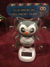 Flip Flap Solar Powered Dancing Owl Swing Dancer Novelty Crazy Bobblehead Toy