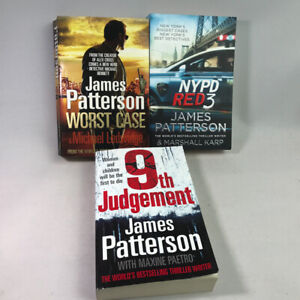 3 James Patterson Books Bundle - 9th Judgement, NYPD Red 3, Worst Case