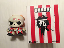 """Skullhead: Regular Edition Dunny - 8"""" by Huck Gee and Kidrobot red & white"""