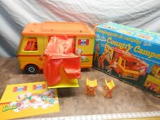 Vintage 1970 Barbie Country Camper With Accessories In Box 5B2