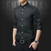 Luxury Slim Fit Stylish Business Long Sleeve Tops Fashion Men's Dress Shirts
