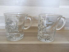 2 Senseo design Studio Tord Boontje clear glass with flower print coffee cups