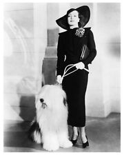 JOAN CRAWFORD with dog great fashion still - (g294)