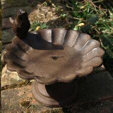 Cast Iron Vintage Chic Small Bird Feeder Table Garden Outdoor 16cmx14cm New