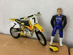 MXS Road Champs ALBEE GREG ALBERTYN #7 Moto Rider Helmet Motocross Suzuki