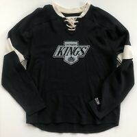 Los Angeles Kings CCM Throwback Hockey Jersey Style Crew Black Sweatshirt XL