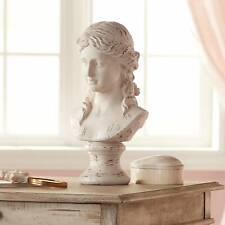 "Classic Greek 17 1/2"" High Antique White Bust Sculpture"