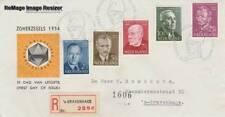 Nederland 1954 FDC E16 - Zomer - getypt adres met open klep (7)