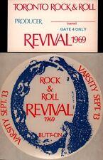 John Lennon / The Doors 1969 Toronto Rock & Roll Revival Pass, Sticker, Poster
