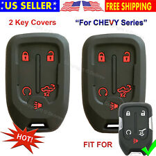 Key Fob Silicone Rubber Remote Cover For 2019 2020 Chevrolet Silverado 1500 2500