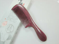 Purple Nice 3-A1 QiaoYaTou Natural Violet Wood Fine-toothed Health Care Comb