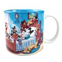 Disney Mickey Mouse Mug Through The Years Ceramic Coffee Cup Sleeping Pluto Blue