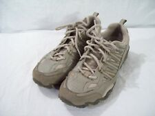 Skechers Women's Athletic Running Shoes Taupe Leather Textile 47357 size 8