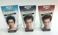 3 PK JOICO Ice Spiker Colorz Hair Gel Colored Styling Glue Chill OutBlue Red