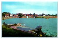 Vintage Picture Postcard The Boating Lake St Osyth Essex