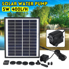 12V Solar Panel Powered Water Pump Feature Pool Pond Aquarium Fountain US