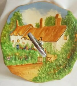 ROYAL WINTON ANN HATHAWAY'S COTTAGE ART DECO 1930S CAKE PLATE