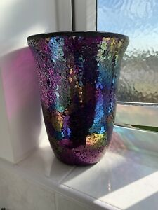 Partylite  MYSTIC GLIMMER HURRICANE with TEALIGHT TREE