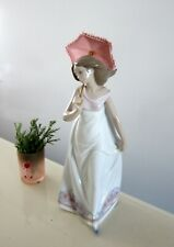 Lladro Afternoon Promenade Girl Umbrella Parasol Figurine 7636 Colletor Society