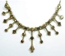 NEW 40cm+5cm Necklace with Swarovski Stones Brown/Light Colorado Topaz Necklace