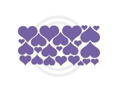 Hearts Lavender Set of 24 Removable Wall Art Vinyl Decals Assorted Sizes#688