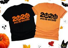 Halloween Quarantined 2020 T-Shirt, Lockdown Pumpkin Scary Kids & Adults Top